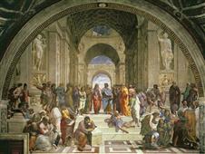 Cuadro canvas museo raffaello scuola di Atene