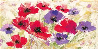 Cuadro canvas flores campo in primavera