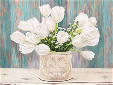 Cuadro canvas flores country bouquet