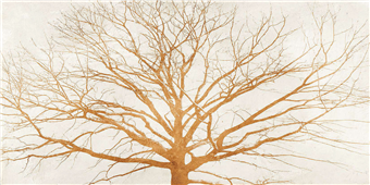 Cuadro canvas moderno tree of gold