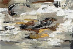 Cuadro canvas abstracto neutral abstract gray