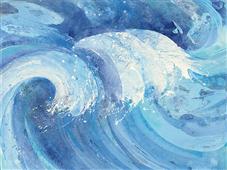 Cuadro canvas abstracto the big wave