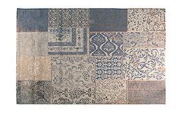 Alfombra patchwork Steppe azul