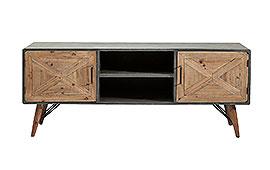 Mueble Tv vintage X Factory 2 puertas - Muebles de Tv Vintage - Muebles Vintage