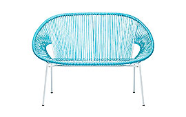 Sofá  Spaghetti azul claro - Sofás Jardín - Muebles de Jardín