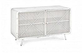 Mueble TV vintage Menford blanco