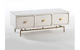 Mueble de TV vintage Chachani blanco