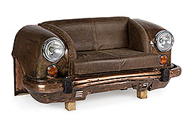 sofá industrial Ambassador marrón