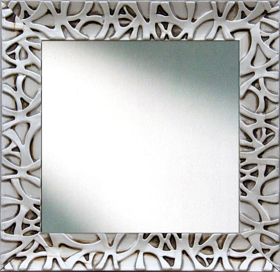 Espejo cuadrado en plata envejecida no disponible en Portobellostreet.es