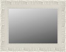 Espejo blanco roto decapado y grabado