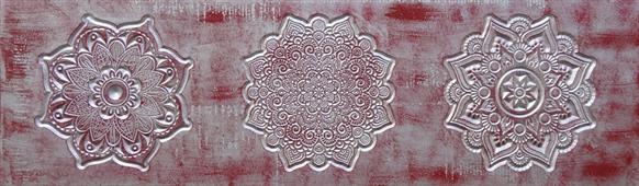 Tabla tallada mandalas morada - Cuadros serigrafiados - Objetos de Decoración