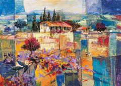 Cuadro canvas paisaje racconto d estate