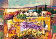 Cuadro canvas paisaje estate mediterranea