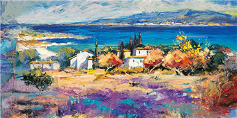 Cuadro canvas paisaje costa mediterranea