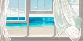 Cuadro canvas paisaje emerald seascape