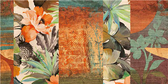Cuadro canvas flores jungle I