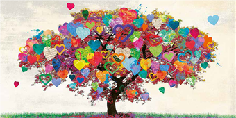 Cuadro canvas tree of love
