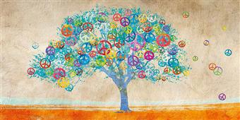 Cuadro canvas moderno tree of peace
