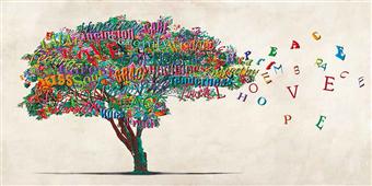 Cuadro canvas moderno tree of humanity