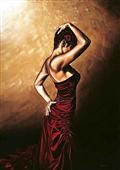 Cuadro canvas posado flamenco woman