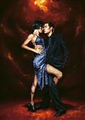 Cuadro canvas held in tango - Cuadros serigrafiados - Objetos de Decoración