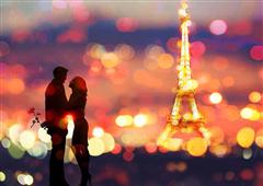 Cuadro canvas figurativo a date in paris