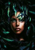 Cuadro canvas shimmering goddess