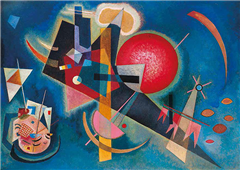 Cuadro canvas museo im blau kandinsky