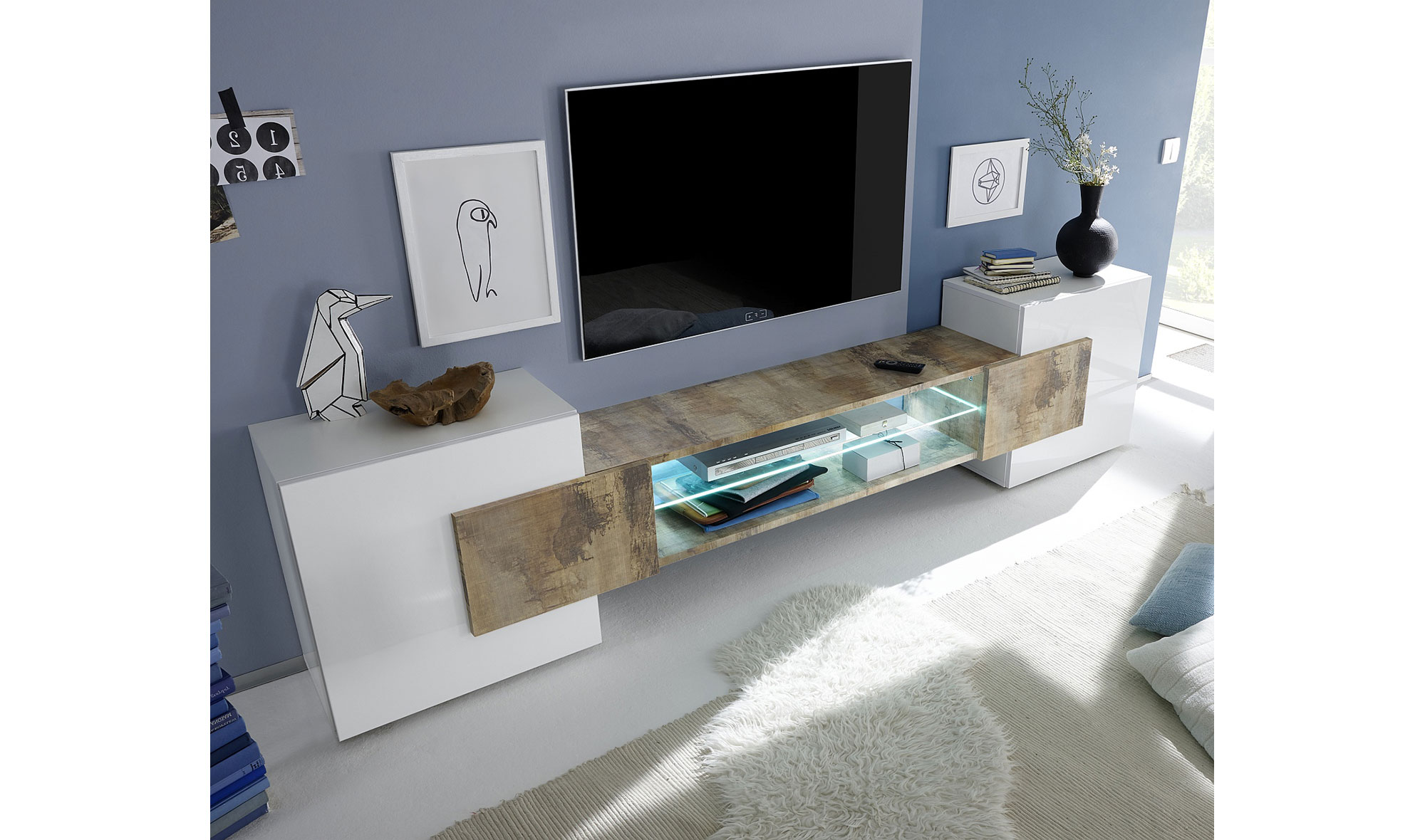 Mueble tv moderno vilta en cosas de arquitectoscosas de for Mueble tv moderno