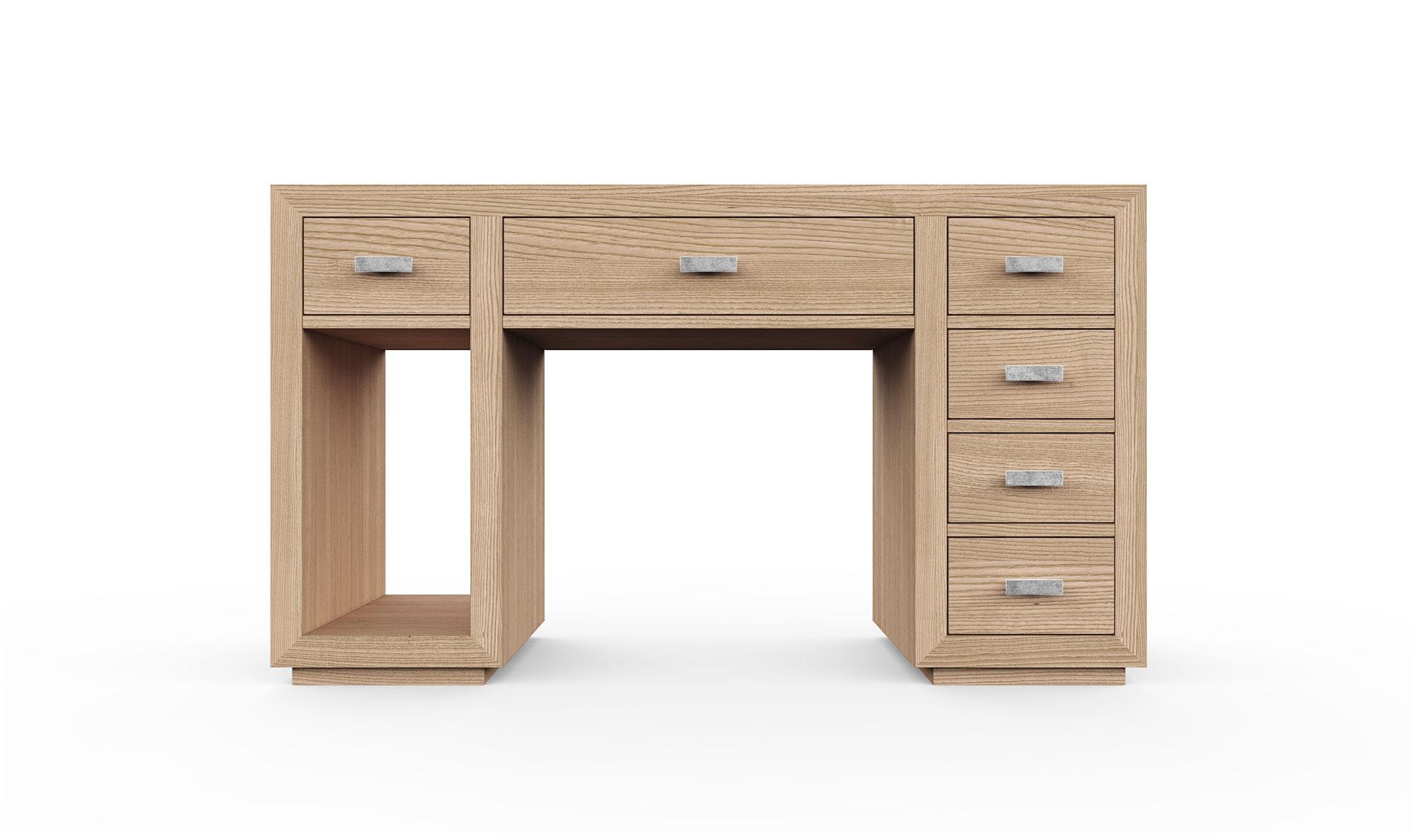 Mesa de escritorio 6 cajones colonial Manhattan de lujo en