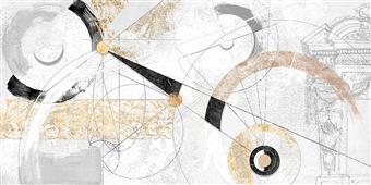Cuadro canvas abstracto nero e oro
