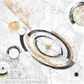 Cuadro canvas abstracto costellazioni