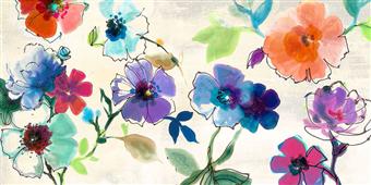 Cuadro canvas flores floral fantasy