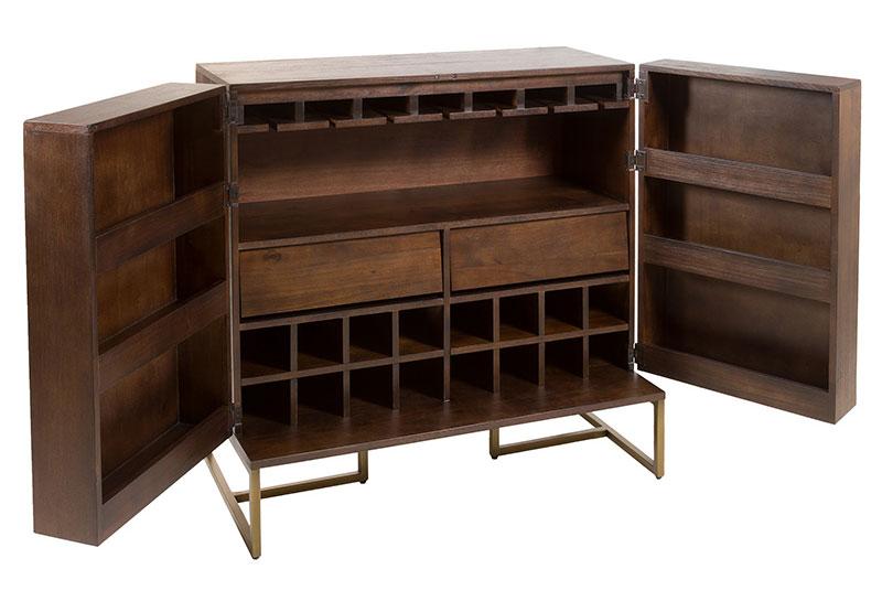 Mueble bar botellero vintage bruno en cosas de for Mueble bar exterior