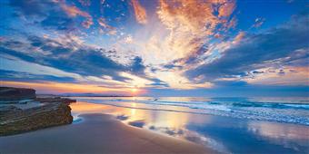 Cuadro canvas fotografia playa as catedrais spain
