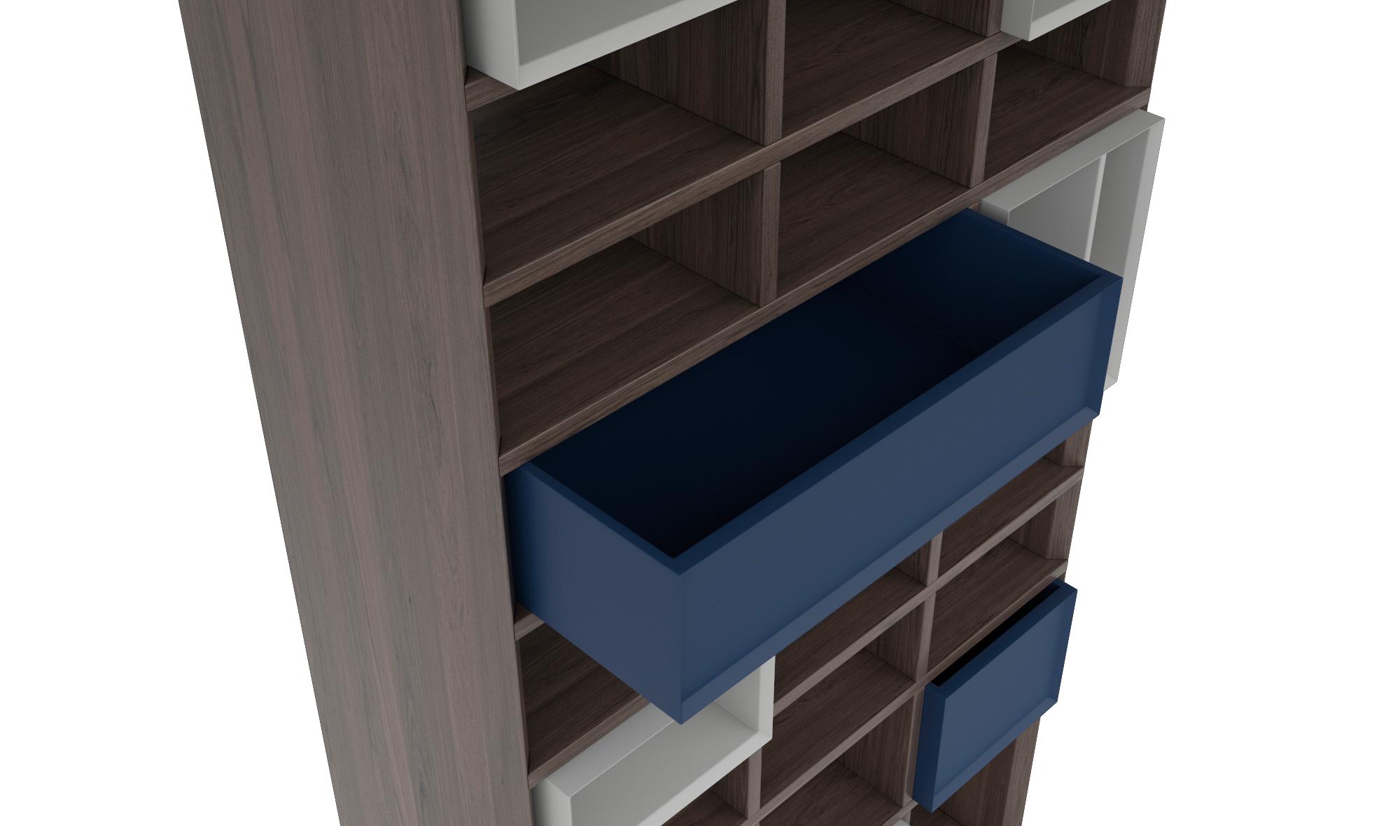 Librería separador de ambientes Donatello de lujo en ...