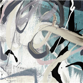 Cuadro canvas tangled I teal version