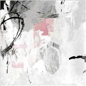Cuadro canvas grey pink I