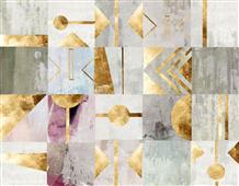 Cuadro canvas gold deco