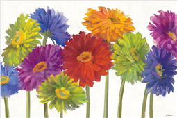 Cuadro canvas colorful gerbera daisies