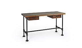 Mesa de escritorio industrial 2 cajones Pipa - Mesas de Escritorio Vintage - Muebles Vintage
