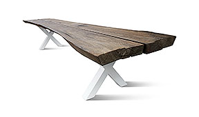 Mesa de comedor roble macizo rústico Sauvigno I