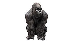 Gorila XXL negro decorativo Front Kare