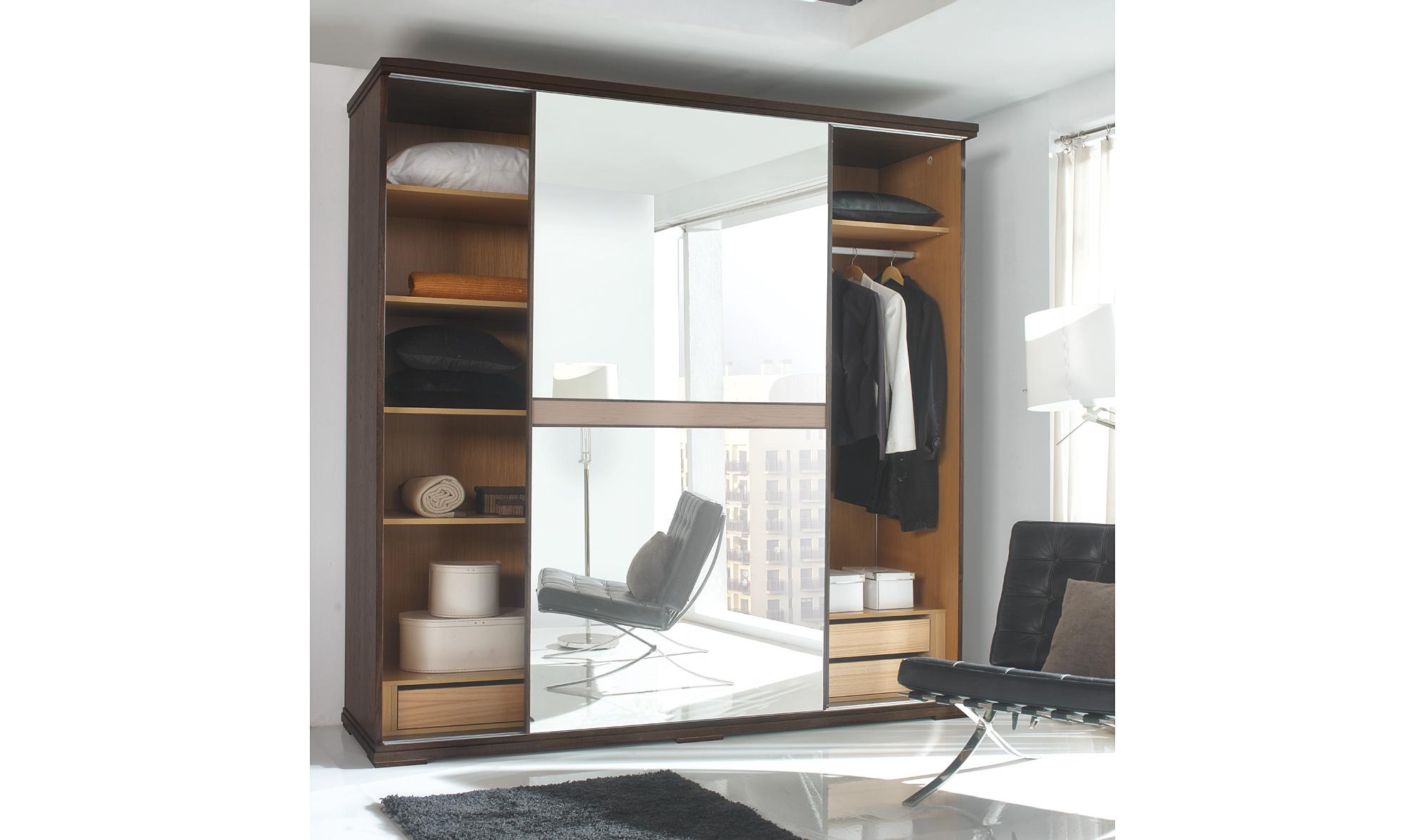 Armario 2 puertas espejo moderno volga en cosas de for Armario puerta espejo