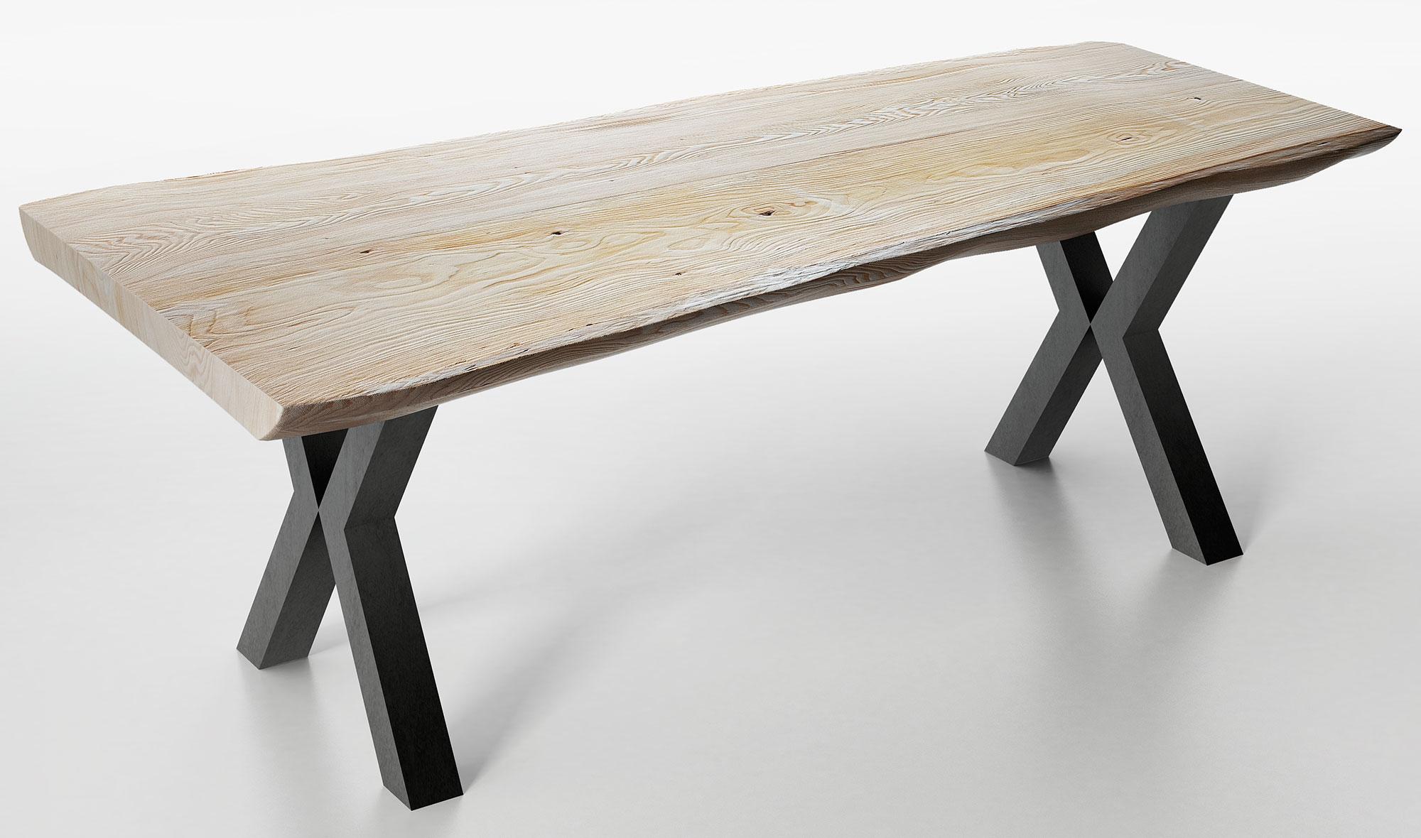 Mesa de comedor madera maciza roble Juli de lujo en