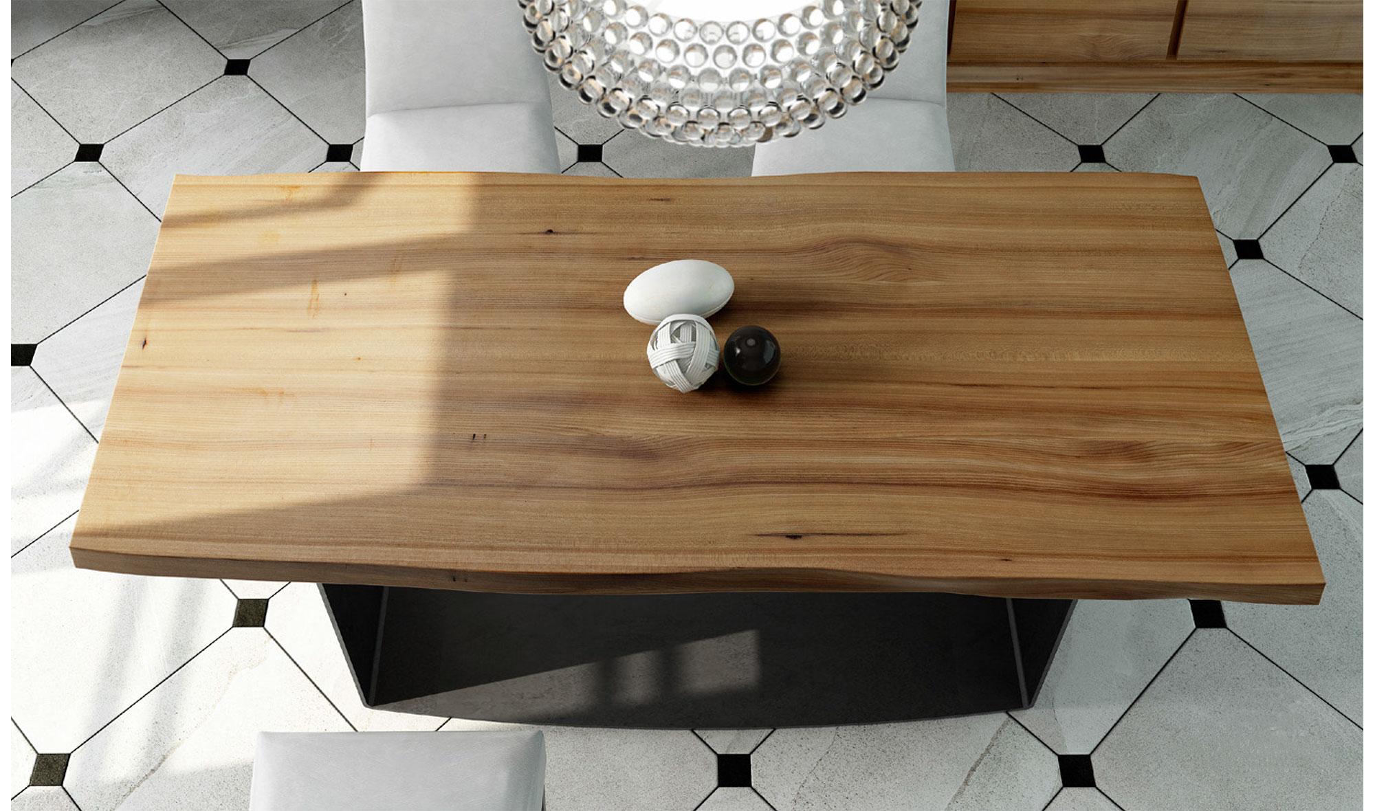 Mesa de comedor madera maciza olmo Maramures de lujo en ...