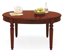 Mesa de Comedor Madera de manivela oval extensible clásica Victoriana