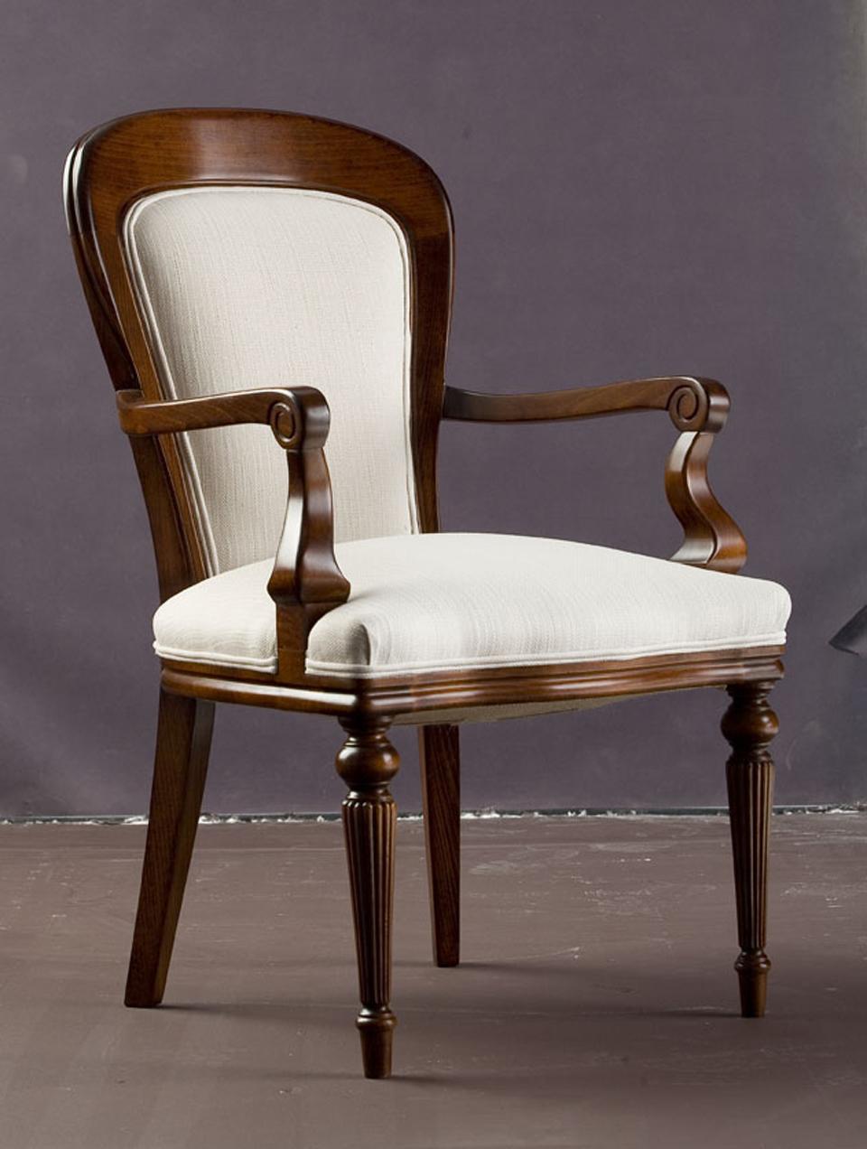 silla comedor clasica con reposabrazos portobello
