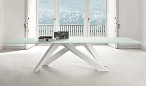 Mesa de comedor cristal Big Table Bonaldo