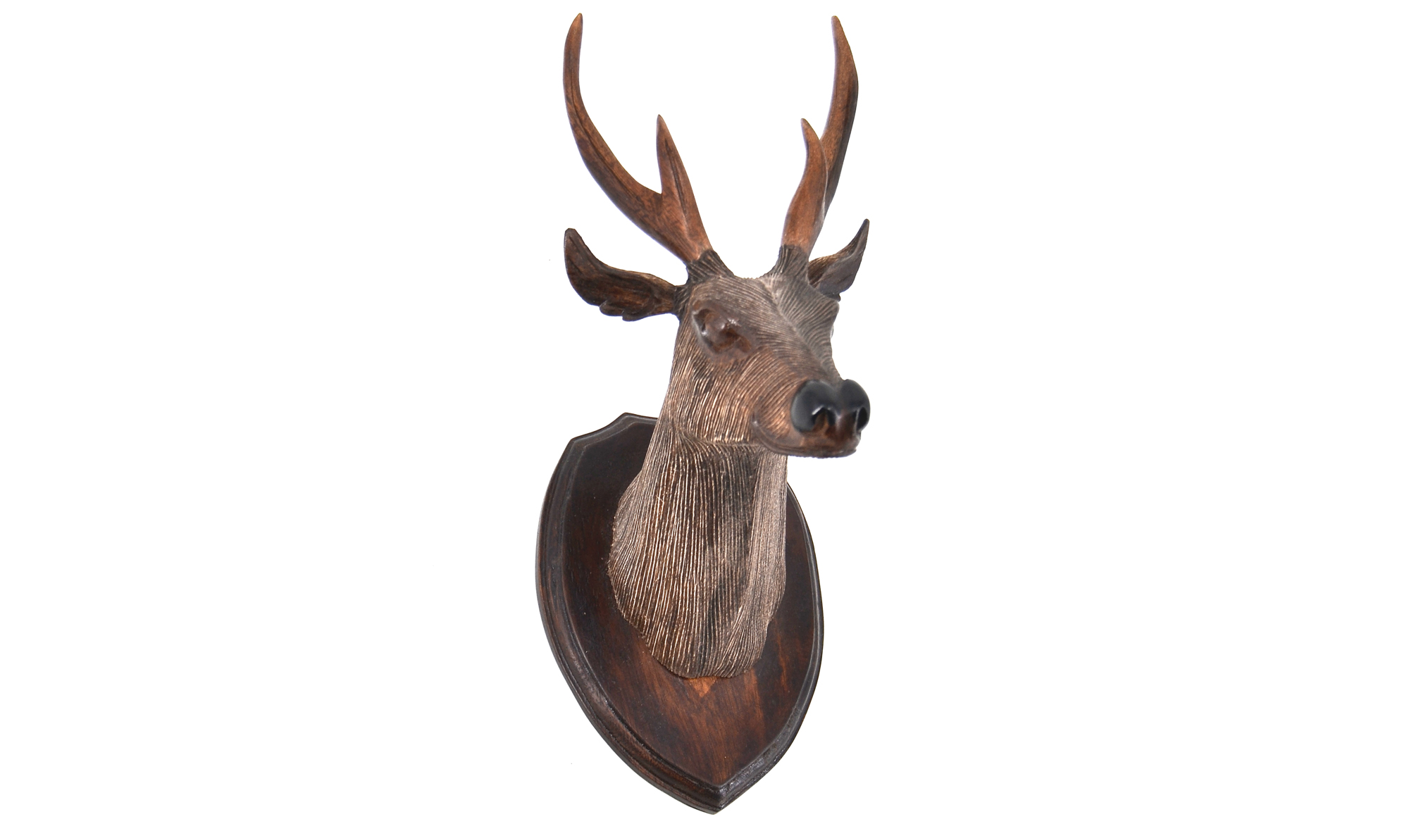 Cabeza ciervo madera tallada XS no disponible en Portobellostreet.es